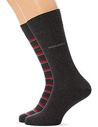 BOSS RS Stripe CC, Calcetines para Hombre, (Pack de 2)