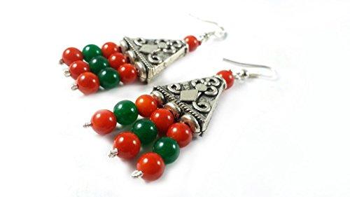 bonanza-day-sale-natural-carnelian-and-green-aventurine-earings-natural-gemstone-original-stone-indi