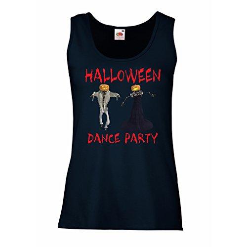 lepni.me Damen Tank-Top Coole Outfits Halloween Tanz Party Veranstaltungen Kostümideen (Medium Blau Mehrfarben)
