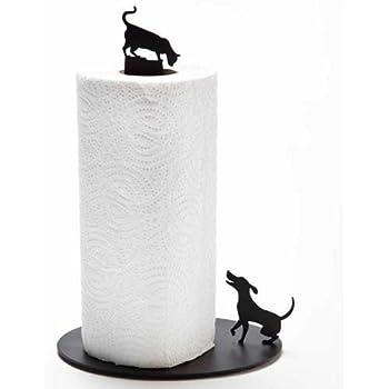 ARTORI Design Black Cat and Dog Paper Towel Stand Cute Design Rack