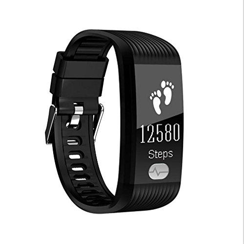 LL-Gesundheit ECG + PPG + HRV Pulsmesser Smart Band Blutdruckuhr Schlaf Fitness Tracker Smart Armband mit OLED-Display , black