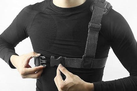 Hapurs Chest Schultergurt Berg Harness Einzel-Schulter-Videokamera -Schulter-Brustgurt Unterstützt Gurt für GoPro Hero 2 3, GoPro HD, GoPro HERO 3+, GoPro Hero 4, Sj4000 Kamera