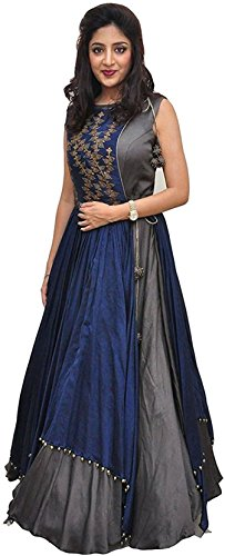 Dhruv Fab Women's Banglory Silk Gown With Jacket Gown for Party Wear...