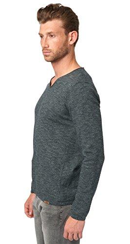 TOM TAILOR Messieurs Pull-over tricoté 100 % coton vert mousse
