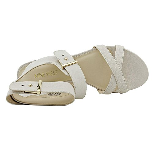 Nove in pelle occidentale Darcelle Dress Sandal Off White Leather