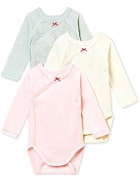 Petit Bateau Baby-Mädchen Formender Body, 3er Pack