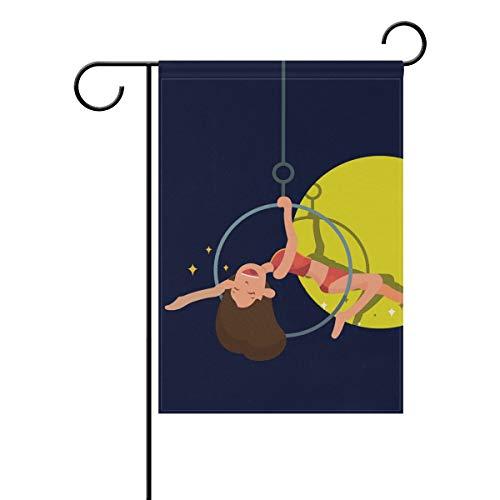 LINDATOP Trapez-Fahne für Künstler, 30,5 x 45,7 cm, doppelseitig, Hofdekoration, Polyester für den Außenbereich, Party, Party, Polyester, Multi, 12x18(in)