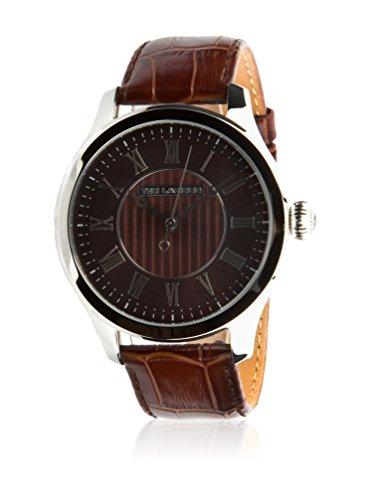 Ted Lapidus - 5129502 - Montre Homme - Quartz Analogique - Cadran Noir - Bracelet Cuir Marron