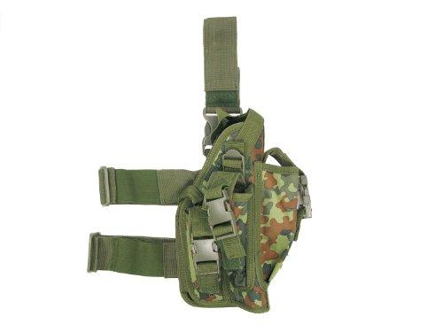 Nylon Oberschenkelholster -Security-, extra groß, mit Bein- und Gürtelbefestigung - flecktarn
