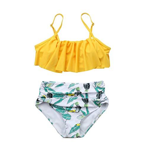 XuxMim Damen Print Floral Surf Suit Anfällig Badeanzug Bademode Zwei Wpiece Beachwear