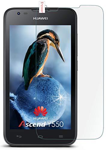 moex 9H Panzerfolie für Huawei Y550 | Panzerglas Bildschirm Glasfolie [Tempered Glass] Screen Protector Glas Bildschirmschutz-Folie für Huawei Ascend Y550 Schutzfolie