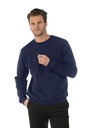 Bruntwood Classic Crew Neck Sweatshirt - Mens & Ladies - 280GSM - Cotton/Polyester (Navy Blue, M)