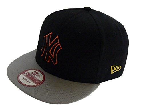 585f31b2824c New Era Baseball Cap 9Fifty Snapback Pop Outline Neyyan black grey Gr. M L