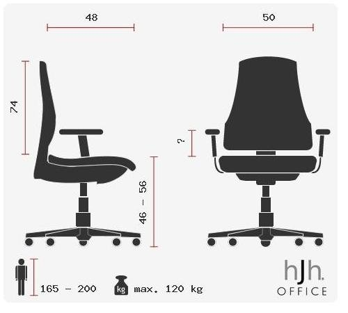 HJH OFFICE 600922 Bürostuhl / Chefsessel VILLA 20 Nappaleder elfenbein - 20