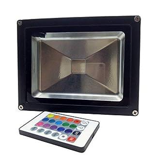 YXH® 20W RGB LED Flood Light Colour Changing Ac 85-240V, LED Security Light, 16 Colours & 4 Modes, 24 Keys Remote Control, Waterproof LED Landscape light, LED Spotlight (20W)