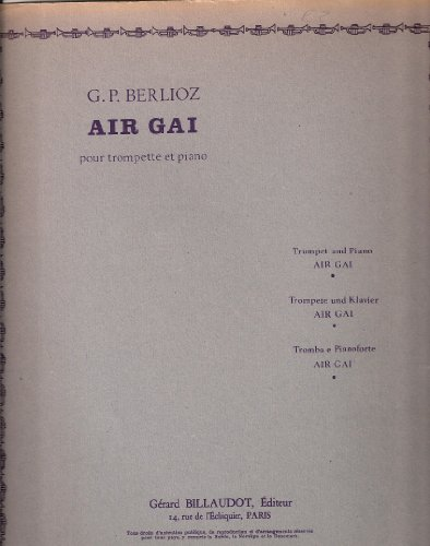 Air gai : Pour trompette et piano...