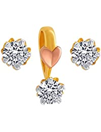 P.C. Chandra Jewellers 10KT Yellow Gold Jewellery Set For Women - B07BHBGG3V