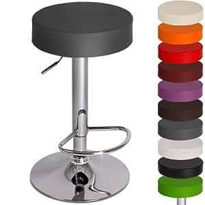 Miadomodo tabouret de bar gris rotatif 360 - Tabouret de bar hauteur assise 80 cm ...