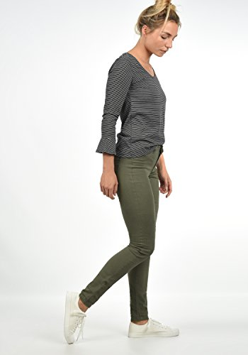 JACQUELINE de YONG by ONLY Lara Super Stretch Skinny-Jeans Damen Colour Denim Regular-Waist aus angenehmen Stretchmaterial Grape Leaf