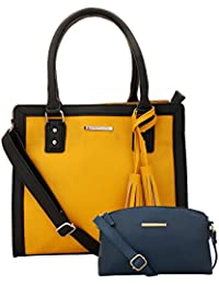 Lapis O Lupo Combo Canary Women Handbag And Sling Bag (Yellow,Blue)