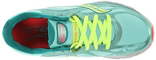 Saucony Women's Kinvara 5 Runshield Running Shoe,Green/Citron/Pink,10 M US Green/Citron/Pink
