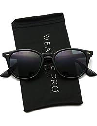 bedf8443fba WearMe Pro - Mirrored Lens Square Rectangular Modern Sunglasses Men Women