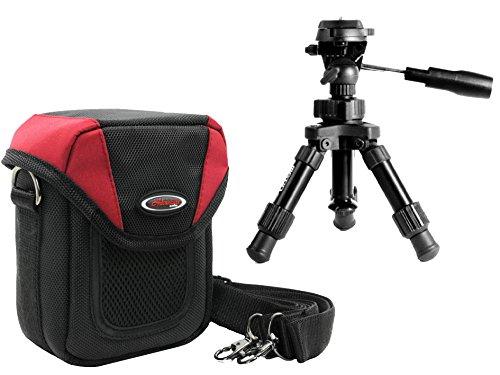 Foto Kamera Tasche Adventure X-Treme Large rot im Set mit Makro Tischstativ inkl. Stativtasche