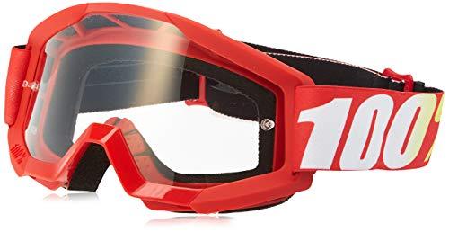 100% 50500-232-02 Strata Jr Brille Furnace - Klar Linse, Rot, Größe One Size