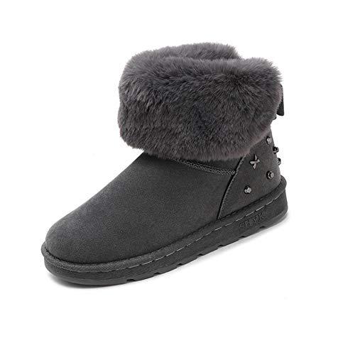 DTHJK Botas de Invierno Suaves para Mujer Botas de Tobillo para Mujer Mantener la Moda de Invierno cálido Zapatos Salvajes Botas de Nieve para Mujer, A, 37