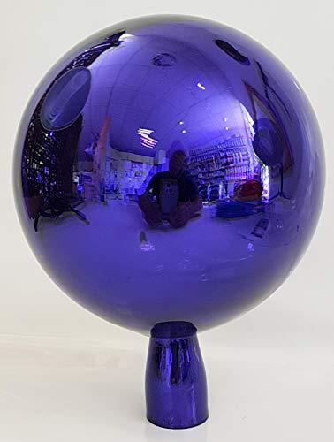 Oberstdorfer Glashütte Gartenkugel farbige Rosenkugel blau verspiegelt dekorative Kristallglas Gartenstecker wetterfest mundgeblasen Durchmesser ca.15 cm