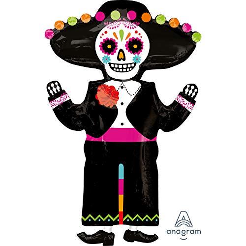 amscan Ballon Tag der Toten Señor Supershape