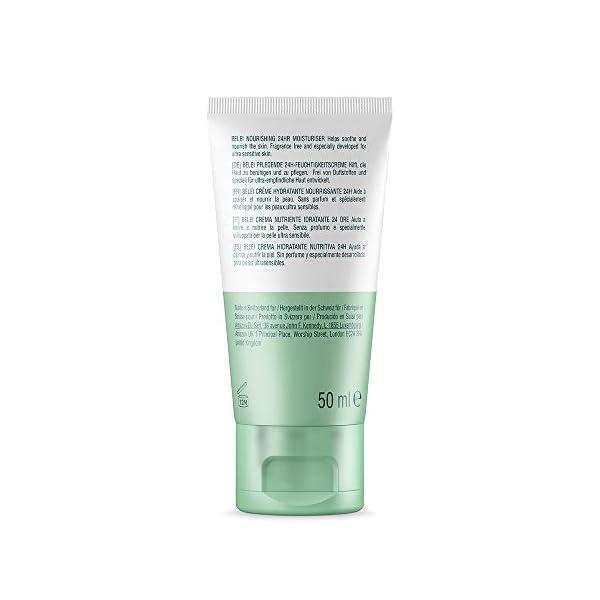 Marca Amazon – Belei Crema hidratante nutritiva 24horas para pieles ultrasensibles, 50ml
