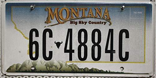 USA Nummernschild MONTANA ~ US Kennzeichen LICENSE PLATE ~ Blechschild Big Sky Country