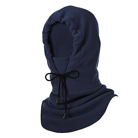Hisea Warme Fleece-Kapuze für das gesamte Gesicht- Sturmhaube -Winddicht, Staubdicht