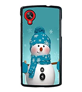 Snowman 2D Hard Polycarbonate Designer Back Case Cover for LG Nexus 5 :: LG Google Nexus 5