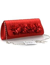 Pochette pour femme - Fleurs (4) - Rouge - Monte Lovis