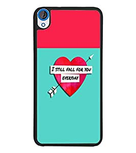 PrintDhaba Quote D-2632 Back Case Cover for HTC DESIRE 820 (Multi-Coloured)