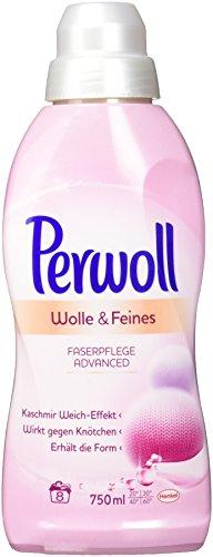 Perwoll Wolle & Feines Faserpflege Advanced Flüssig, 6er Pack (6x 750 ml à 8 Waschladungen)
