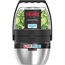 Thermos Dual Compartment Food Flask with Folding Spoon