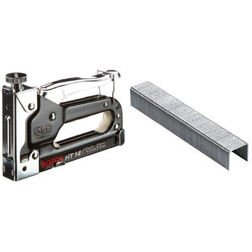 Bosch 0 603 038 001  - Grapadora manual HT 14 - - - 0603038001 (pack de 1) + 2 609 255 821 - Grapa o 53 (pack de 1000)