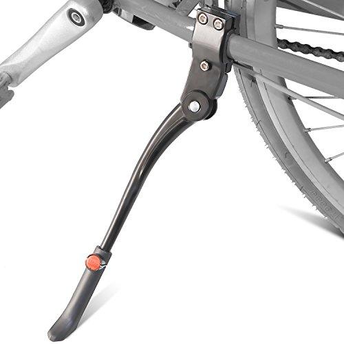 """Pata de Cabra para Bicicleta, Aluminio Soporte Ajustable del Retroceso de la Bici Caballete Pata de Cabra para Ciclismo de Bicicletas, para Bicicleta de 24""""-27.5"""" de Trehai, Negro"""