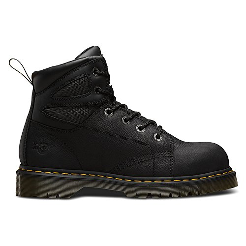 Dr Martens Mens Fairleigh ST6 eye Lace up Slip Resistant Safety Boots Noir
