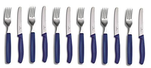 Victorinox 12-tlg. Tafelmesser-Set Swiss Classic (Blau)