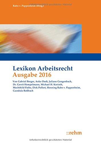 Lexikon Arbeitsrecht 2016