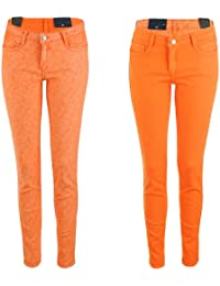 BleuLab Reversible Jeans zum Wenden tutti frutti / orange
