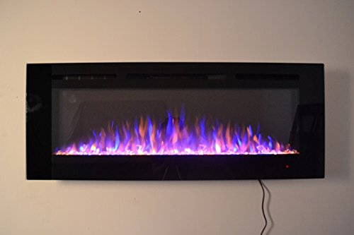 Truflame 2019 New Premium Product 50inch Black Wall Mounted Electric Fire With 3