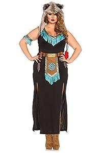 Leg Avenue- Guerrero Mujer, Color negro y turquesa, Talla Plus 3X/4X (EUR 52-56) (85385X09084)