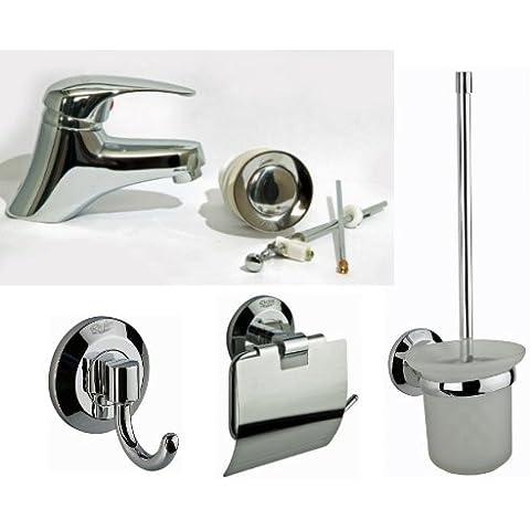 C&P bagno accessori Set, Set da bagno, ospiti WC Rubinetto spazzola gancio, rubinetto