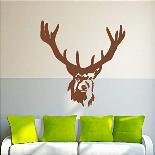 Chellonm Elch Hirsche Tiere Wald Jagd Kinder Wandbild Wandkunst Vinyl Aufkleber Home Wand Artisitc Dekorationen 43 * 44 Cm (Elch-jagd-dekor)