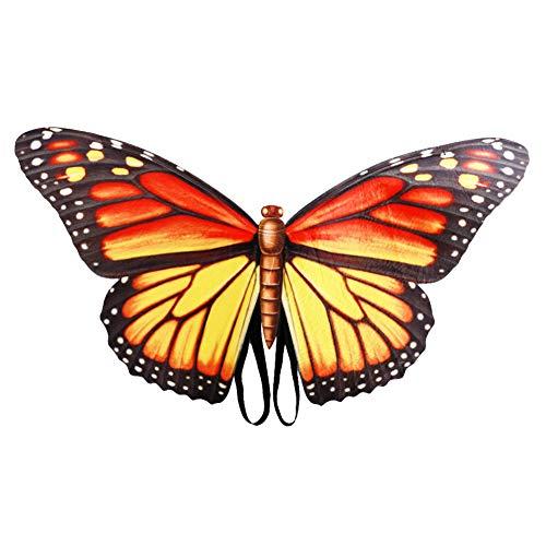 Der Kostüm Monarch - Fayeille Schmetterlingsflügel, Halloween Maskerade Kostüm Monarch Wings Kostümzubehör für Kinder Erwachsene